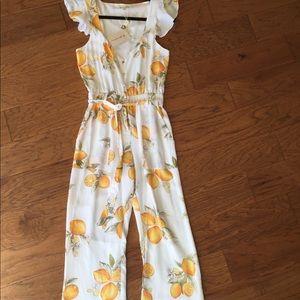 For Love And Lemons Pants For Love Lemons Limonada Lemon Print